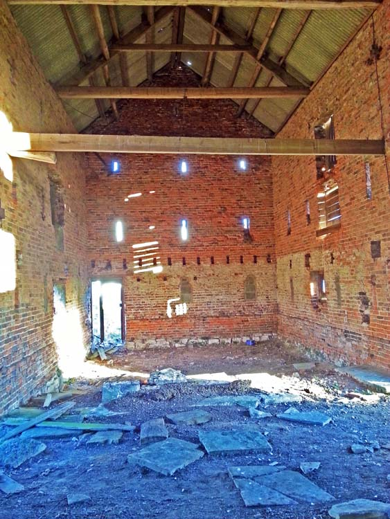 Original interior of the barn before we started the conversion.